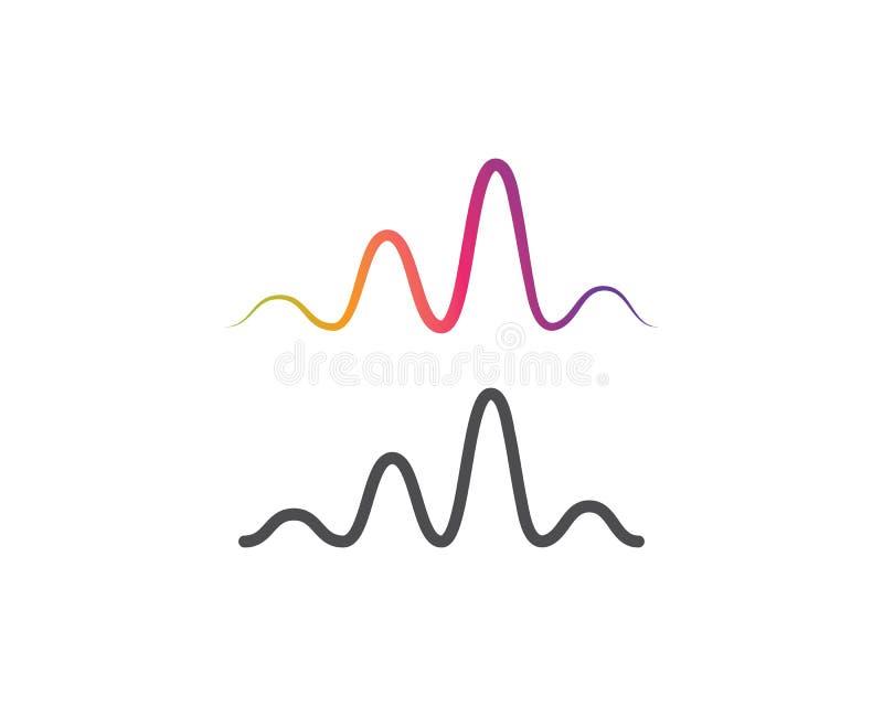 logo de musique d'onde sonore illustration de vecteur