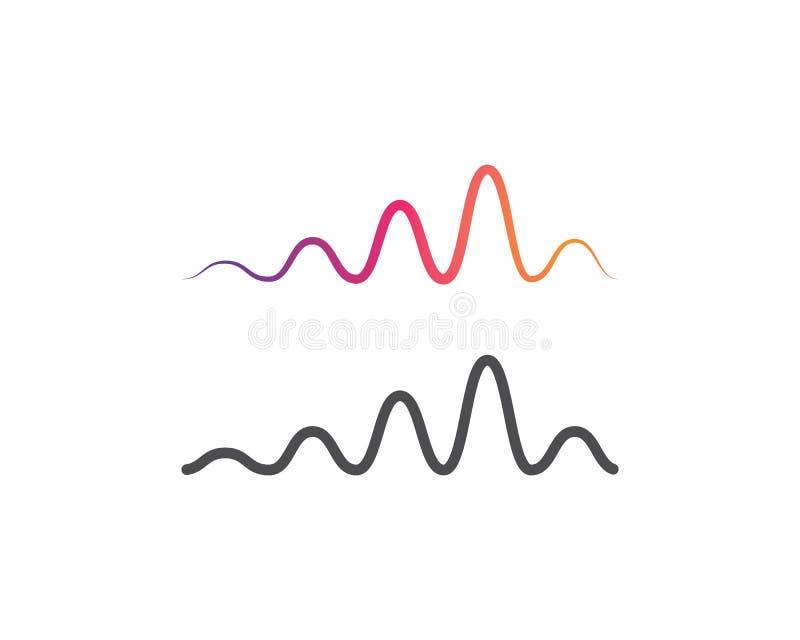 logo de musique d'onde sonore illustration libre de droits