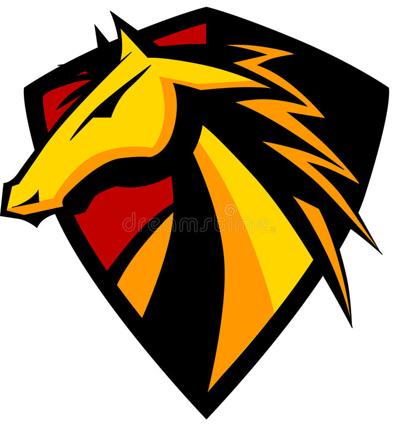 Logo de mustang/mascotte de Bronco illustration stock