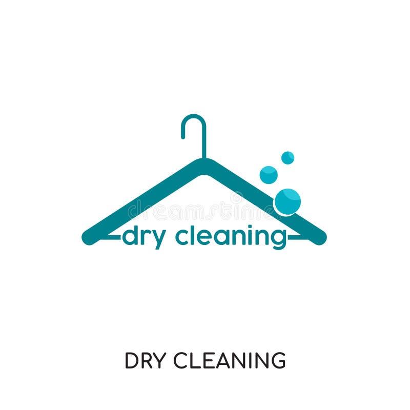logo de nettoyage à sec d'isolement sur le fond blanc pour votre Web, foule illustration stock