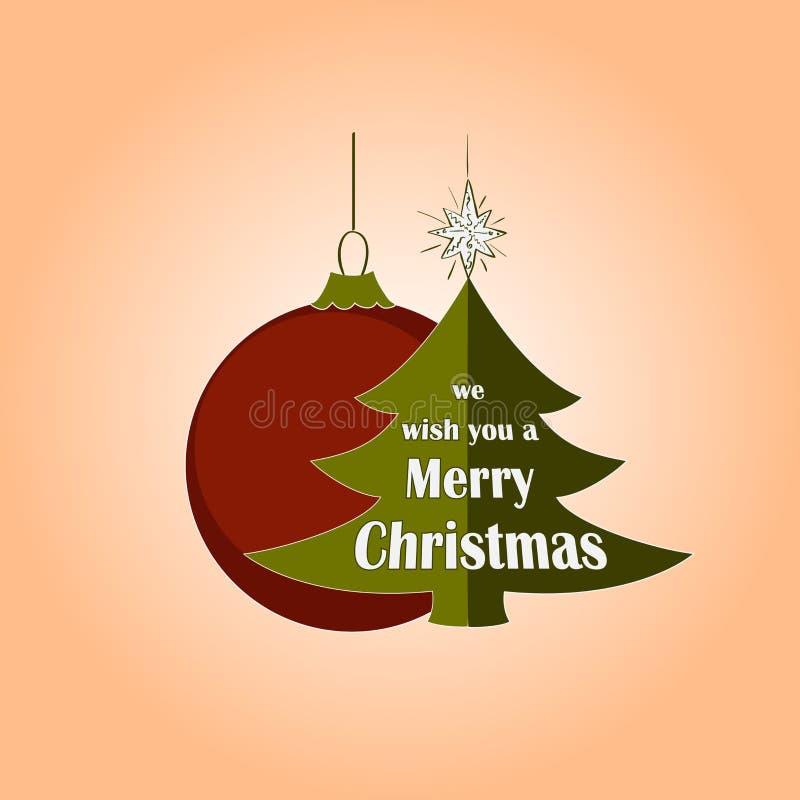 Logo de Noël et de nouvelle année, emblème illustration stock