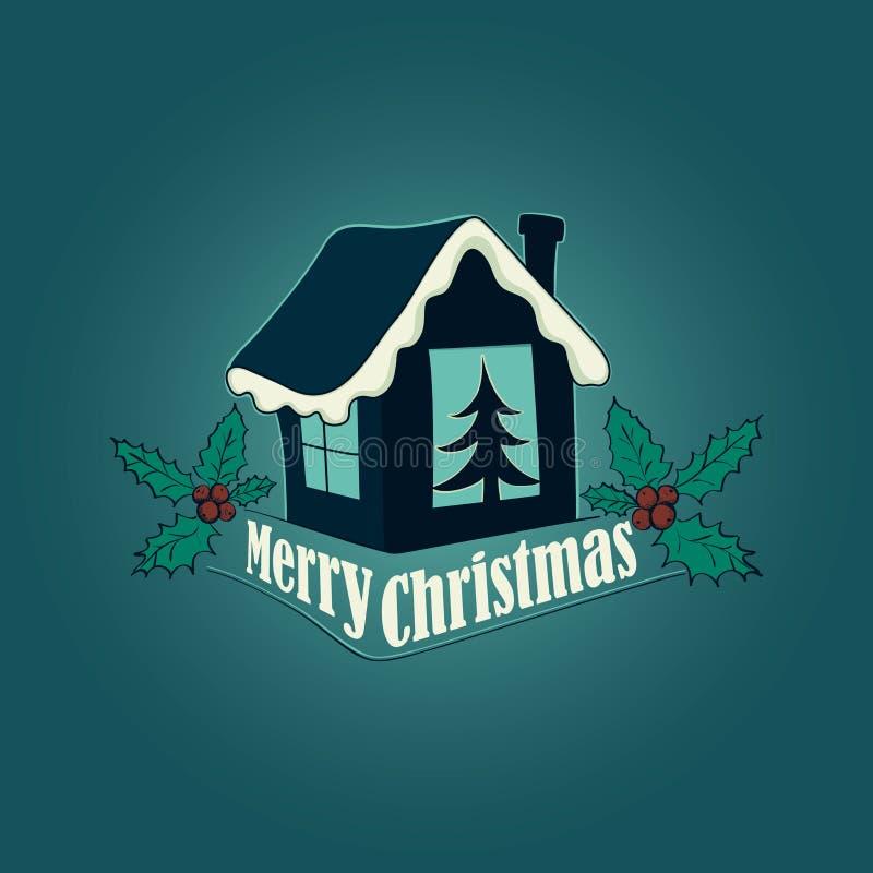 Logo de Noël et de nouvelle année, emblème illustration libre de droits
