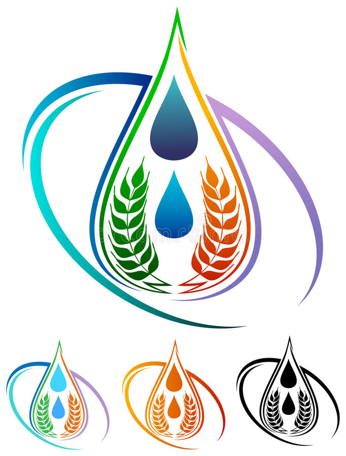 Logo de nourriture illustration stock