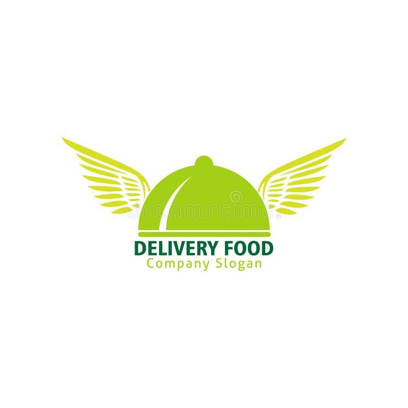 Logo de nourriture de la livraison pour le service rapide illustration libre de droits