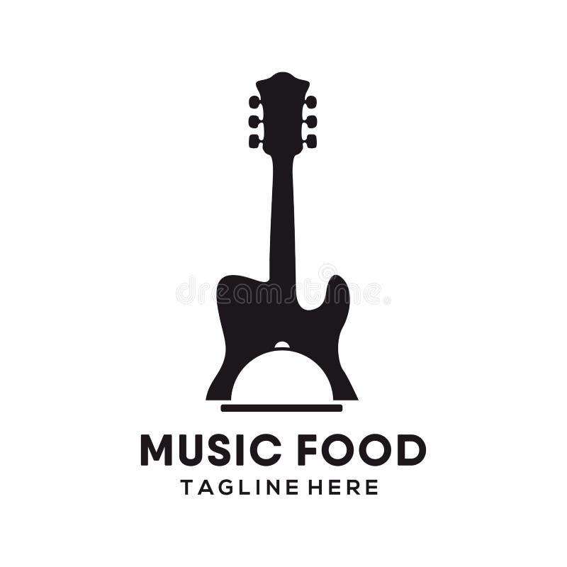 Logo de nourriture de restaurant de musique et conception d'icône illustration libre de droits