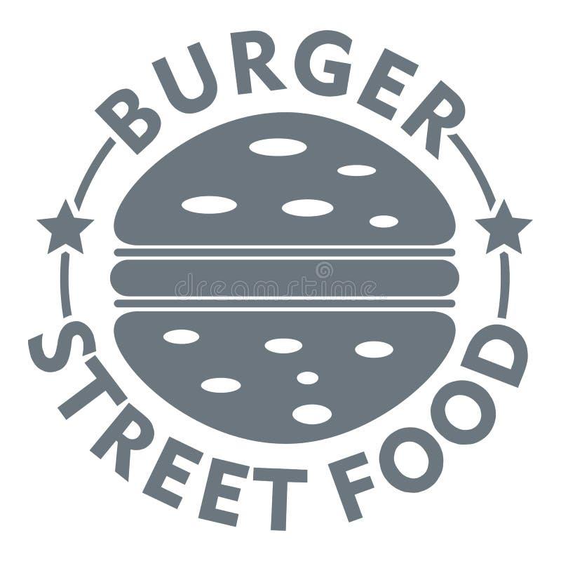 Logo de nourriture de rue d'hamburger, style gris simple illustration libre de droits