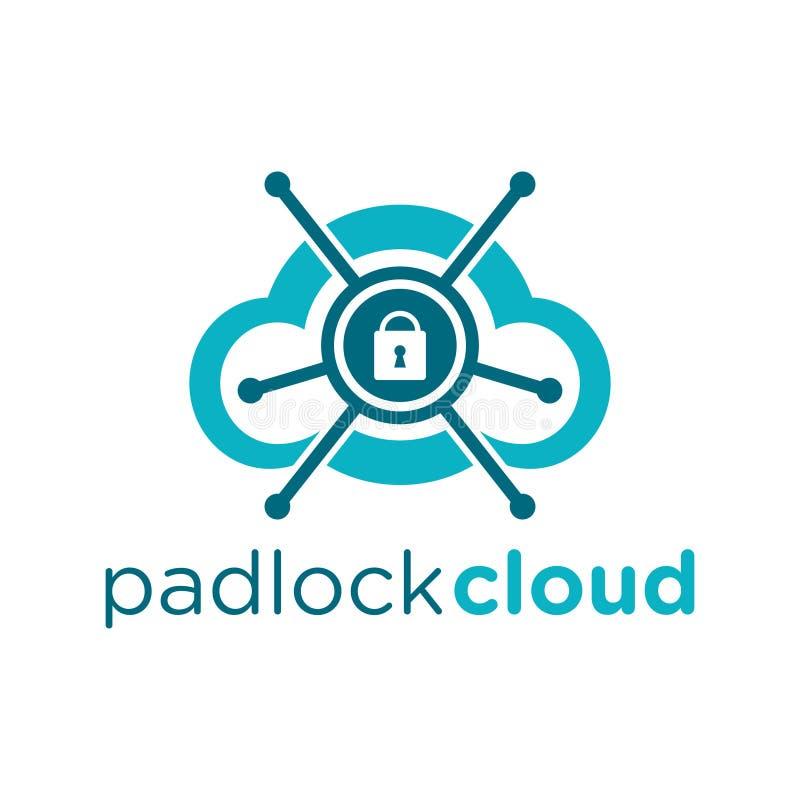 Logo de nuage de cadenas illustration stock