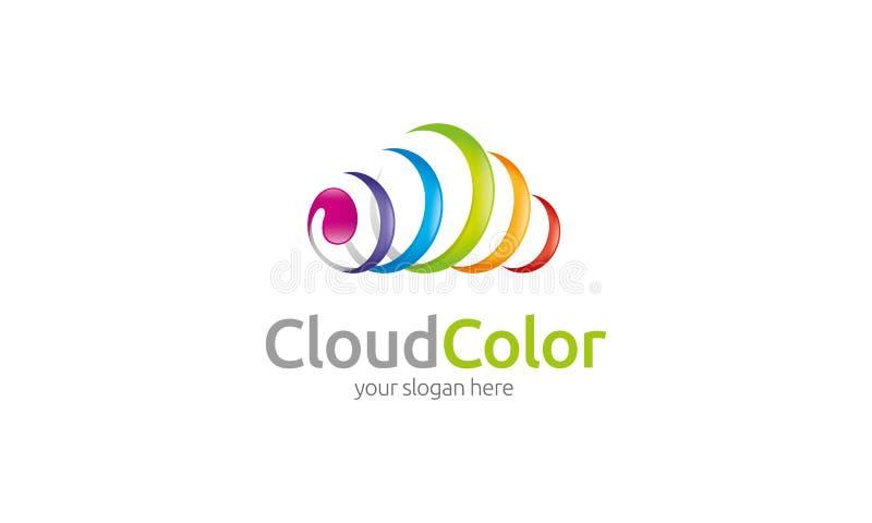 Logo de nuage de couleur illustration libre de droits