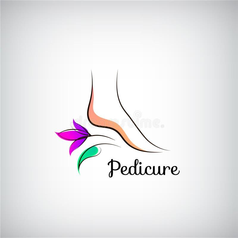 Logo de pédicurie de pied de femme Concept de construction abstrait illustration de vecteur