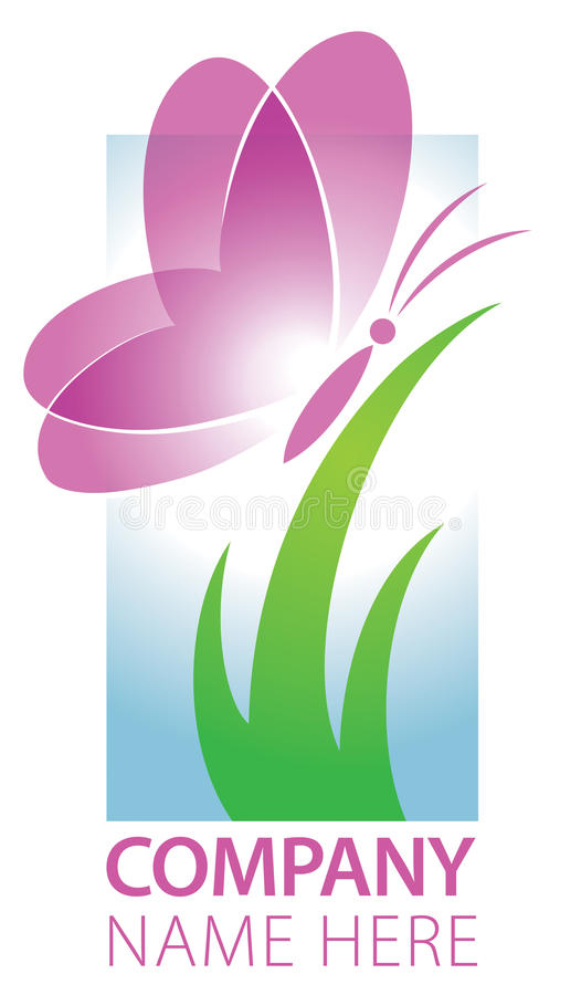 Logo de papillon illustration stock