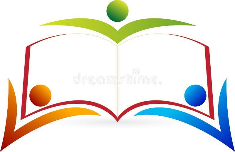 Logo de peope de livre illustration de vecteur