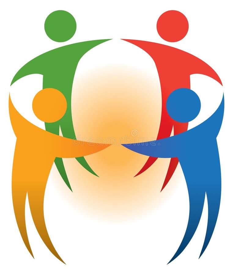 Logo de personnes illustration libre de droits