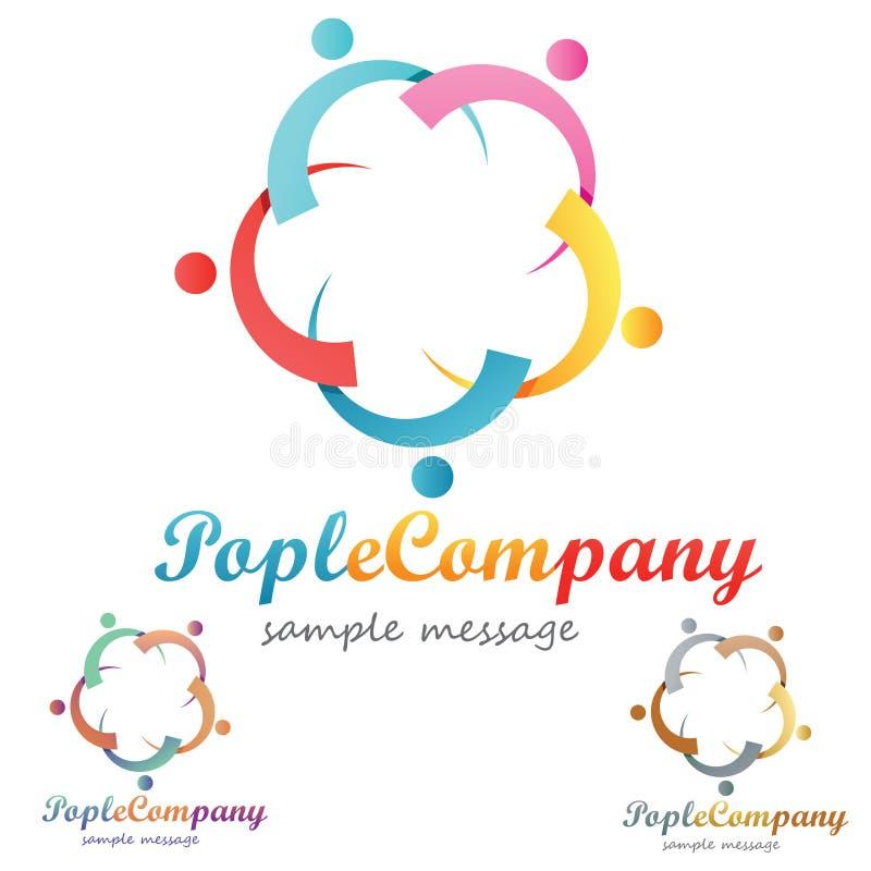 Logo de personnes illustration stock