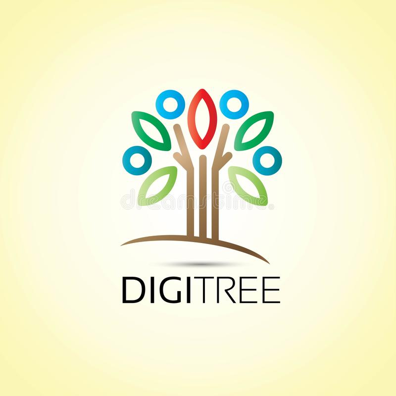 Logo de personnes d'arbre illustration stock