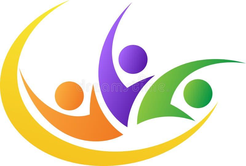Logo de personnes de liberté illustration de vecteur