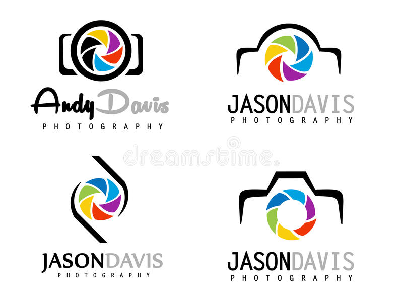 Logo de photographie illustration de vecteur