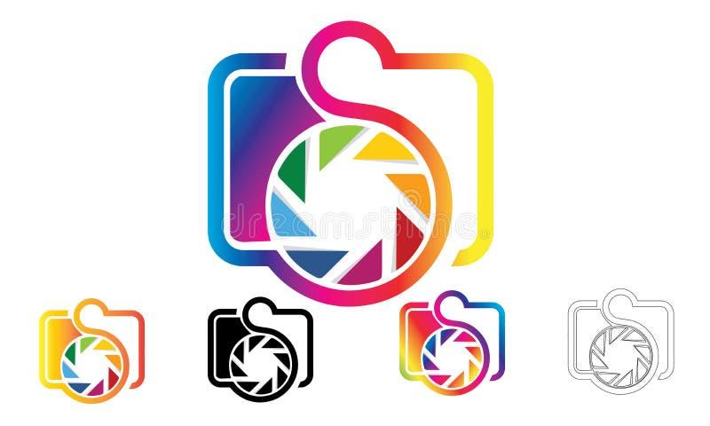 Logo de photographie d'icône d'appareil-photo illustration stock