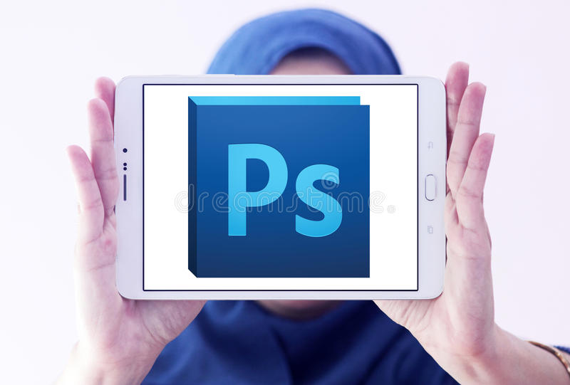 Logo de photoshop d'Adobe photo libre de droits