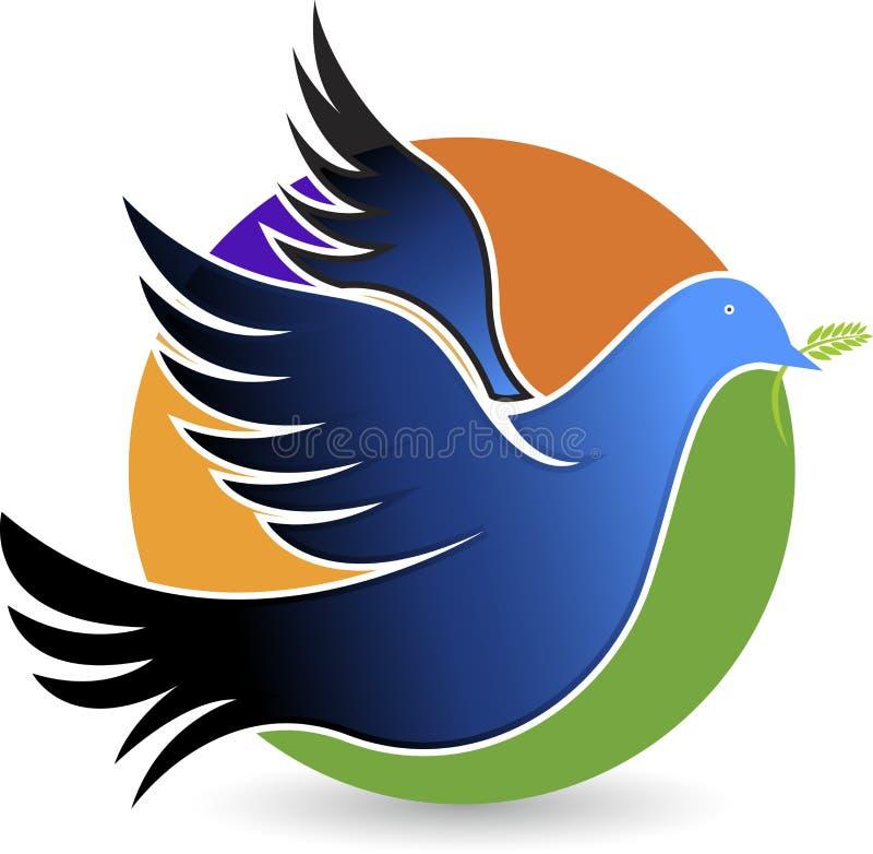 Logo de pigeon illustration de vecteur