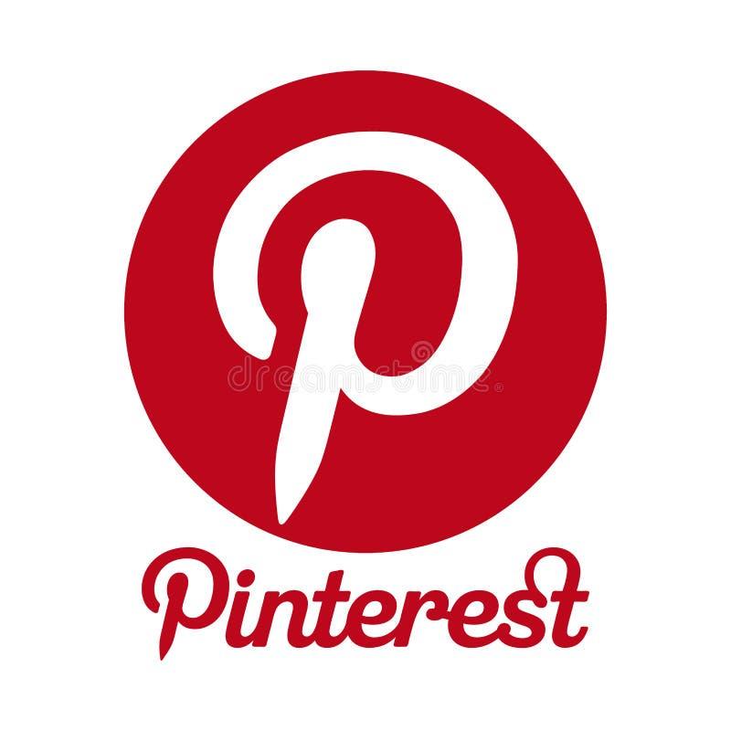 Logo de Pinterest illustration stock