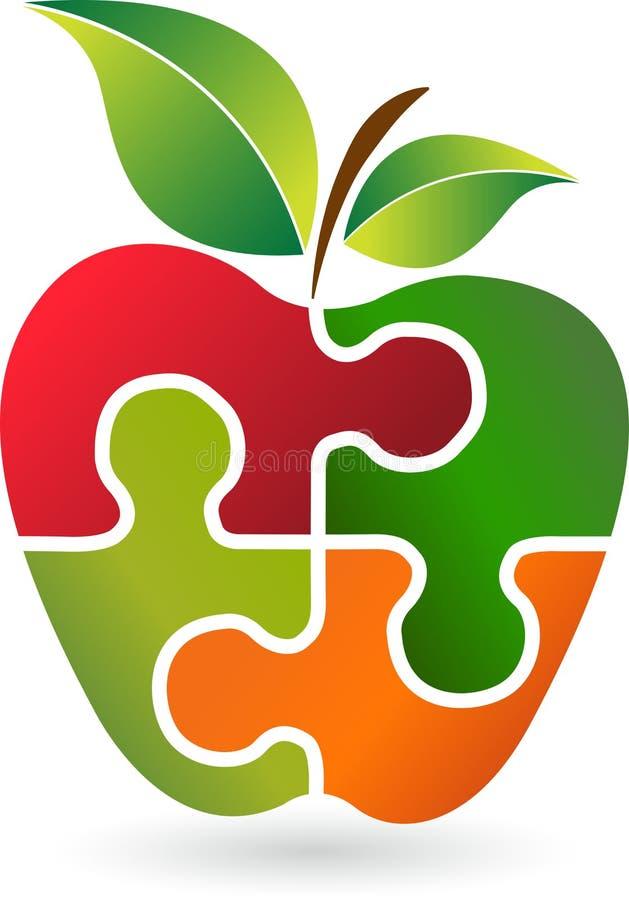 Logo de pomme de puzzle illustration de vecteur