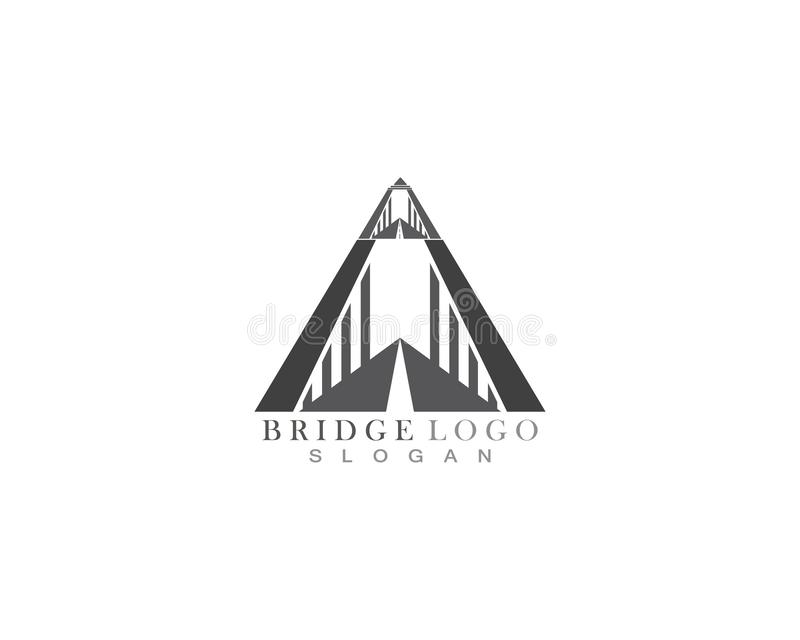 Logo de pont et calibre de vecteur de symbole illustration stock
