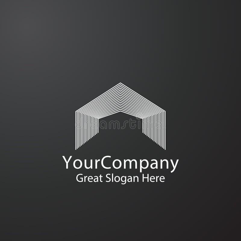 logo de porte d'entrée pour les immobiliers à la maison ou Lettre abstraite A porte, construction, symbole de porte Mono monochro illustration de vecteur