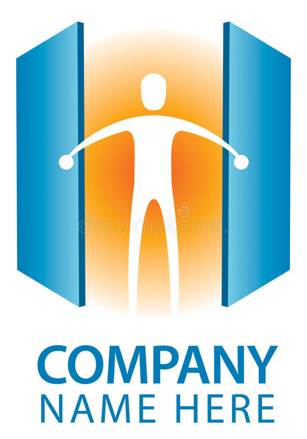 Logo de porte ouverte illustration stock