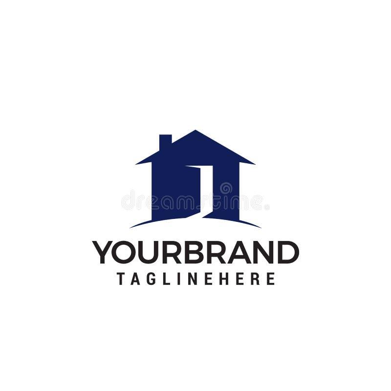 Logo de porte ouverte de Chambre illustration stock