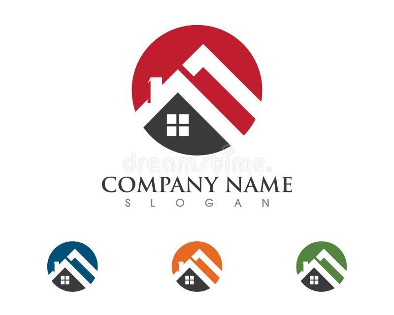 Logo de propriété et de construction illustration de vecteur