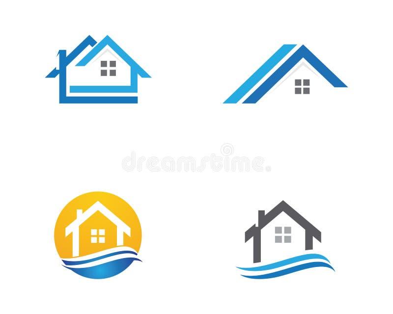 Logo de propriété et de construction illustration libre de droits
