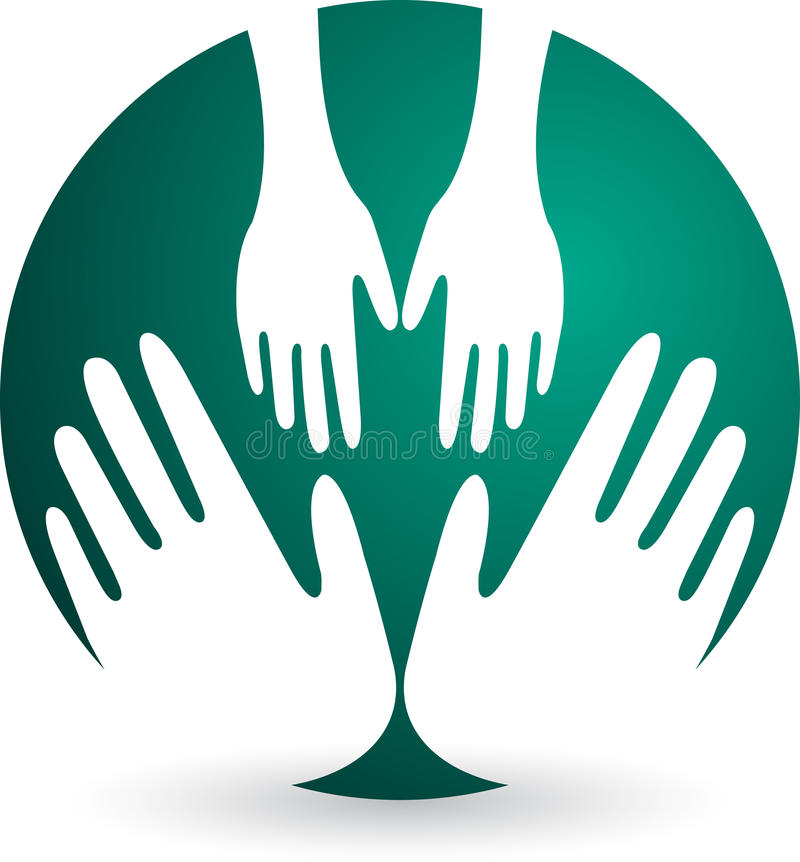 Logo de protection de l'enfance illustration libre de droits