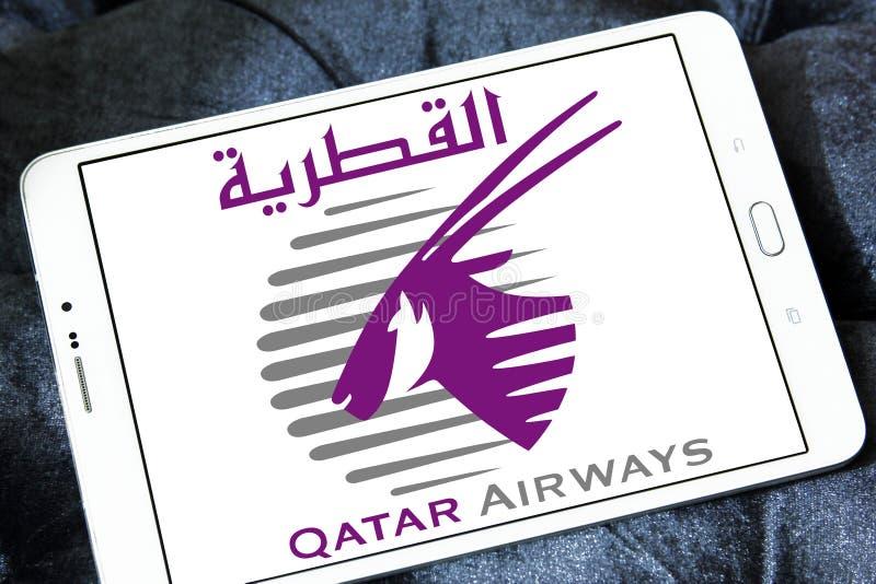Logo de Qatar Airways image stock