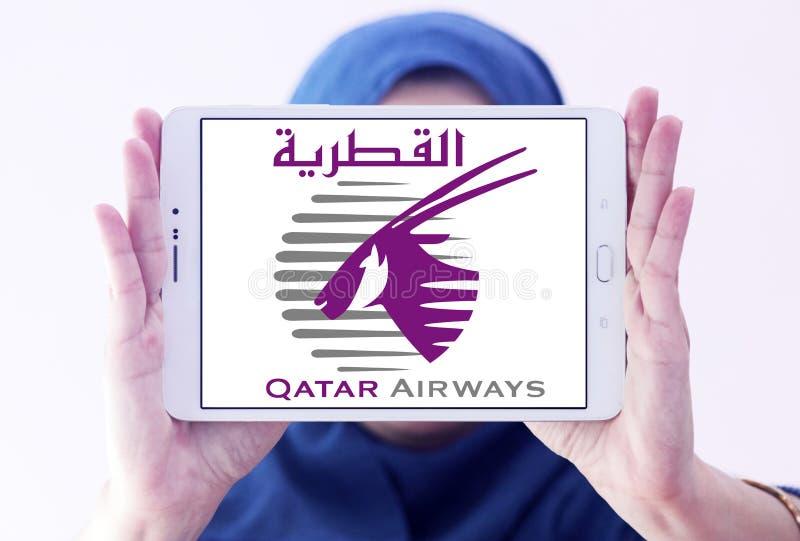 Logo de Qatar Airways photographie stock