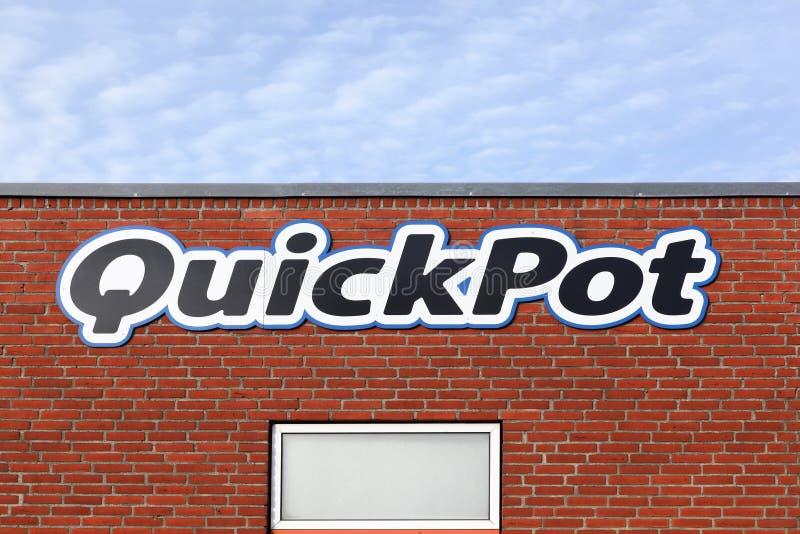 Logo de Quickpot sur un mur photo stock