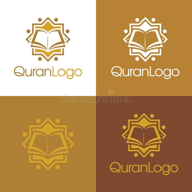 Logo de Quran et icône - illustration de vecteur photo stock