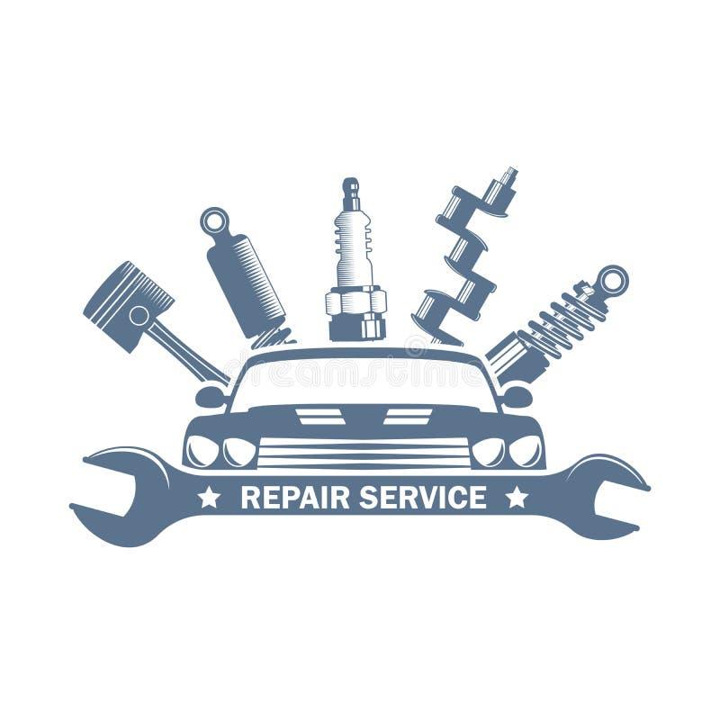 Logo de réparation de voiture de vecteur illustration de vecteur