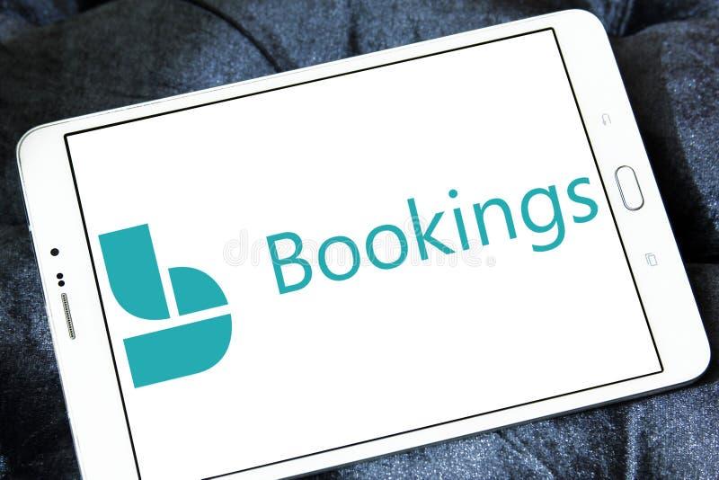 Logo de réservations de Microsoft image stock