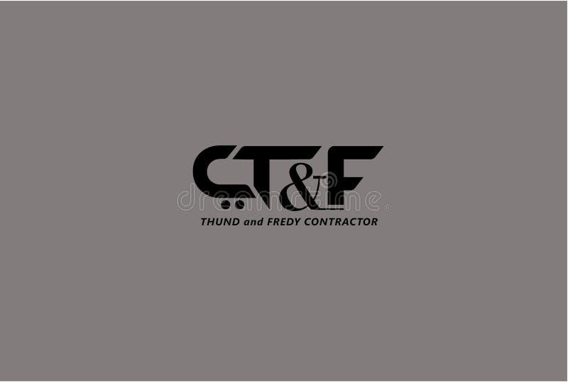Logo de Real Estate avec la typographie de lettre images libres de droits