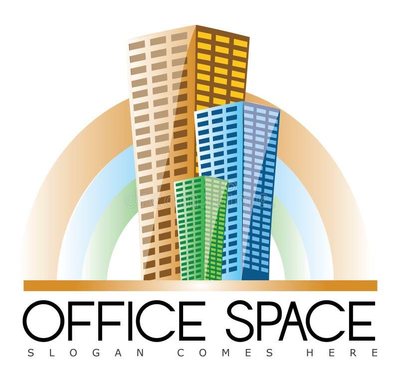 Logo de Real Estate d'immeubles de bureaux illustration stock