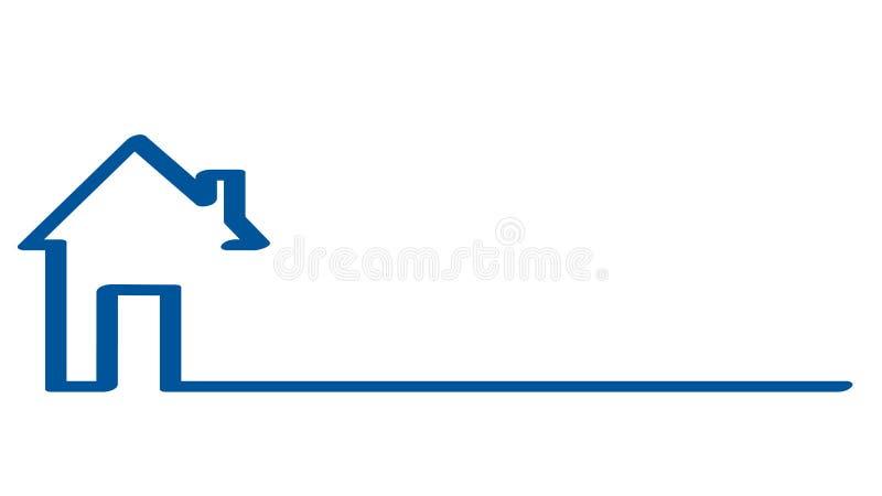 Logo de Real Estate, maison sur le blanc, illustration courante de vecteur illustration de vecteur