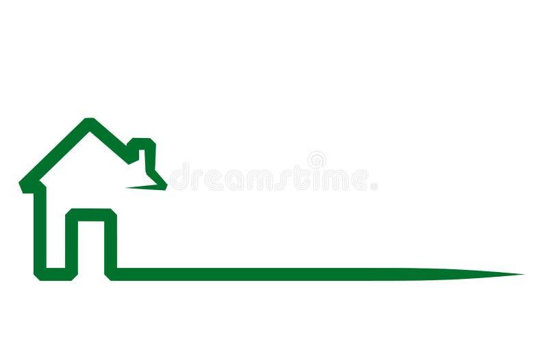 Logo de Real Estate, maison sur le blanc, illustration courante de vecteur illustration stock