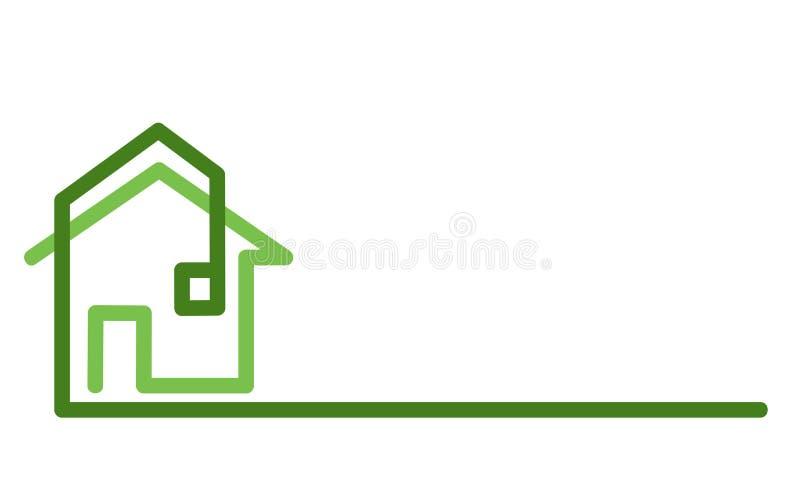 Logo de Real Estate, maison sur le blanc, illustration courante de vecteur illustration libre de droits