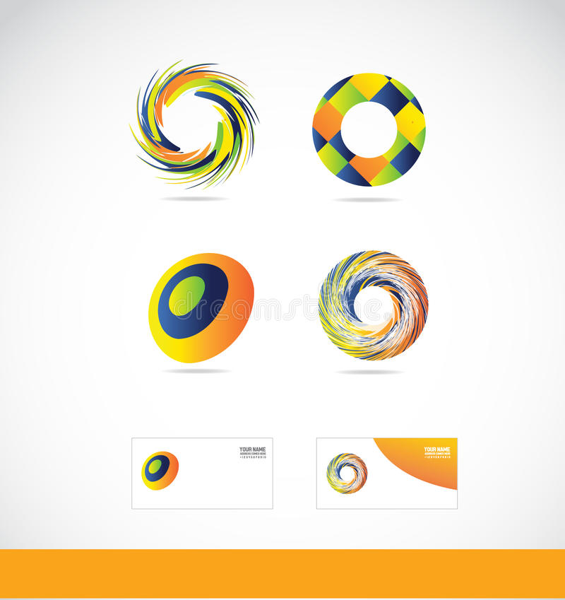 Logo de remous de cercle illustration stock