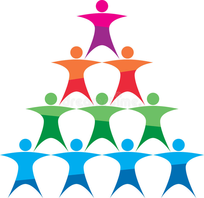 Logo de renforcement d'équipe illustration stock