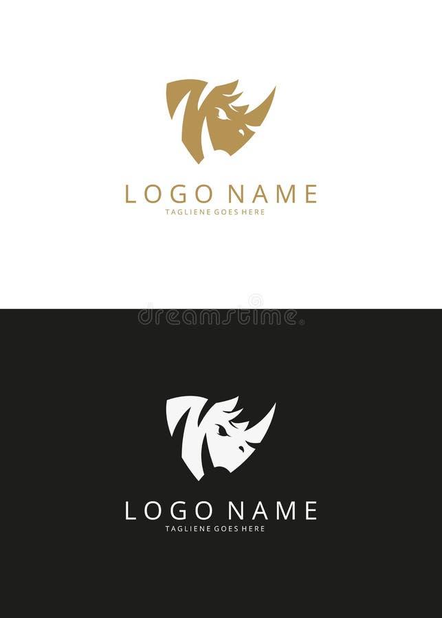 Logo de rhinocéros photo stock
