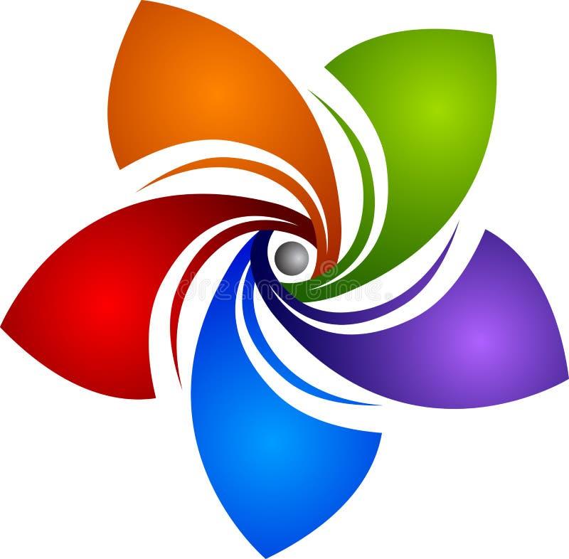 Logo de rotation d'étoile illustration libre de droits