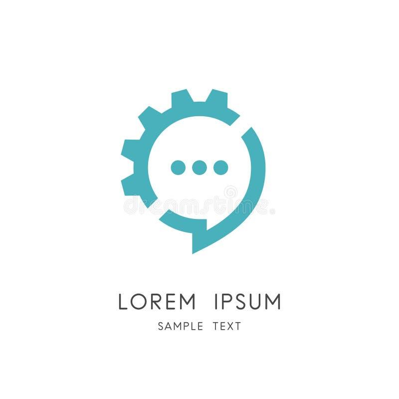 Logo de roue de causerie et de vitesse illustration de vecteur