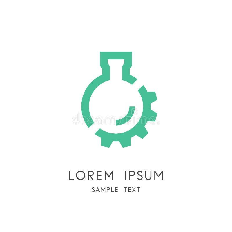 Logo de roue de laboratoire et de vitesse illustration de vecteur