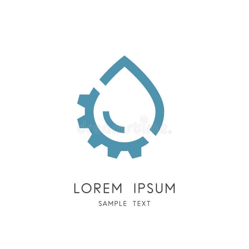 Logo de roue de pétrole et de vitesse illustration libre de droits